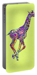 Colorful Baby Giraffe Portable Battery Charger by Jane Schnetlage