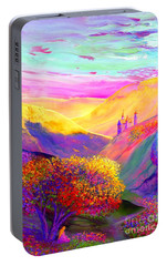 Colorful Enchantment Portable Battery Charger by Jane Small