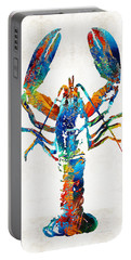 Colorful Lobster Art By Sharon Cummings Portable Battery Charger by Sharon Cummings