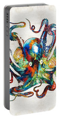 Colorful Octopus Art By Sharon Cummings Portable Battery Charger by Sharon Cummings