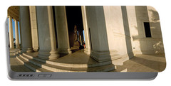 Columns Of A Memorial, Jefferson Portable Battery Charger by Panoramic Images