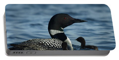 Common Loon Family Portable Battery Charger by James Peterson