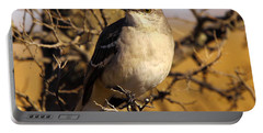 Common Mockingbird Portable Battery Charger by Robert Frederick