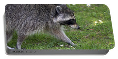 Common Raccoon Portable Battery Charger by Sharon Talson