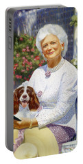 Companions In The Garden Portable Battery Charger by Candace Lovely