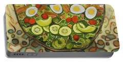 Cool Summer Salad Portable Battery Charger by Jen Norton