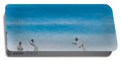 Cricket On The Beach, 2012 Acrylic On Canvas Portable Battery Charger by Lincoln Seligman