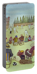 Cricket On The Green, 1987 Watercolour On Paper Portable Battery Charger by Gillian Lawson