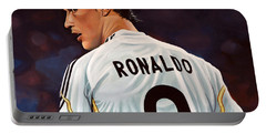 Cristiano Ronaldo Portable Battery Charger by Paul Meijering