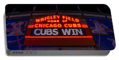 Cubs Win Portable Battery Charger by Steve Gadomski
