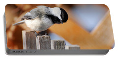 Curious Chickadee Portable Battery Charger by Christina Rollo