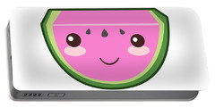 Cute Watermelon Illustration Portable Battery Charger by Pati Photography