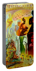 Dali Oil Painting Reproduction - The Hallucinogenic Toreador Portable Battery Charger by Mona Edulesco