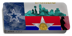 Dallas Skyline Portable Battery Charger by Becca Buecher