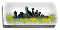 Dallas Skyline Portable Battery Charger by Mim White