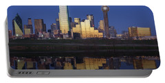 Dallas Twilight Portable Battery Charger by Rick Berk