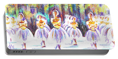 Dancers In The Forest II Portable Battery Charger by Kip DeVore
