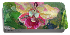 Dancing Orchid I Portable Battery Charger by Shadia Derbyshire