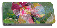 Dancing Orchid IIi Portable Battery Charger by Shadia Derbyshire