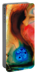 Dark Swan - Abstract Art By Sharon Cummings Portable Battery Charger by Sharon Cummings