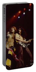 David Lee Roth And Eddie Van Halen - Van Halen- Oakland Coliseum 12-2-78   Portable Battery Charger by Daniel Larsen