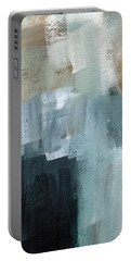 Days Like This - Abstract Painting Portable Battery Charger by Linda Woods