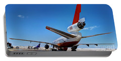 Portable Battery Charger featuring the photograph Dc-10 Air Tanker  by Bill Gabbert