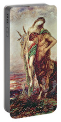 Dead Poet Borne By Centaur Portable Battery Charger by Gustave Moreau