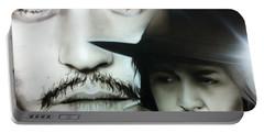 Johnny Depp - ' Depp ' Portable Battery Charger by Christian Chapman Art