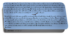 Desiderata Portable Battery Charger by Bill Cannon