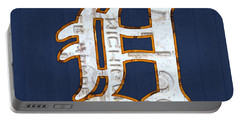 Detroit Tigers Baseball Old English D Logo License Plate Art Portable Battery Charger by Design Turnpike