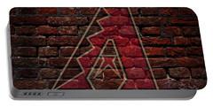 Diamondbacks Baseball Graffiti On Brick  Portable Battery Charger by Movie Poster Prints