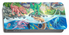 Dinosaur Island Portable Battery Charger by Mark Gregory