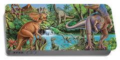 Dinosaur Waterfall Portable Battery Charger by Mark Gregory