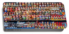 Display Of The Russian Nesting Dolls Portable Battery Charger by Panoramic Images