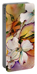 Dogwood In Spring Colors Portable Battery Charger by Lil Taylor