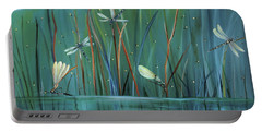 Dragonfly Diner Portable Battery Charger by Carol Sweetwood
