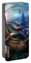 Dream Catcher - Freedom's Flight Portable Battery Charger by Carol Cavalaris