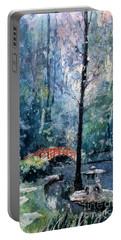 Duke Gardens Watercolor Batik Portable Battery Charger by Ryan Fox