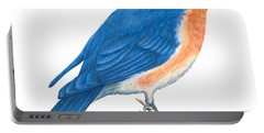 Eastern Bluebird Portable Battery Charger by Anonymous