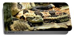 Eastern Diamondback Rattlesnake Portable Battery Charger by Deena Stoddard