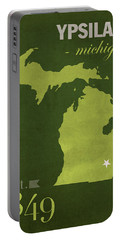 Eastern Michigan University Eagles Ypsilanti College Town State Map Poster Series No 035 Portable Battery Charger by Design Turnpike