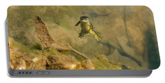 Eastern Newt In A Shallow Pool Of Water Portable Battery Charger by Chris Flees