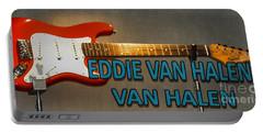 Eddie Van Halen Guitar Portable Battery Charger by Gary Keesler