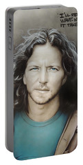 ' Eddie Vedder ' Portable Battery Charger by Christian Chapman Art