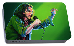 Eddie Vedder Of Pearl Jam Portable Battery Charger by Paul Meijering
