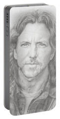 Eddie Vedder Portable Battery Charger by Olivia Schiermeyer