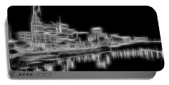 Electric Nashville Skyline At Night Portable Battery Charger by Dan Sproul