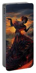 Elements - Fire Portable Battery Charger by Cassiopeia Art