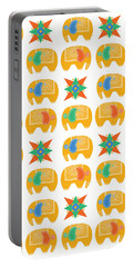 Elephant Print Portable Battery Charger by Susan Claire
